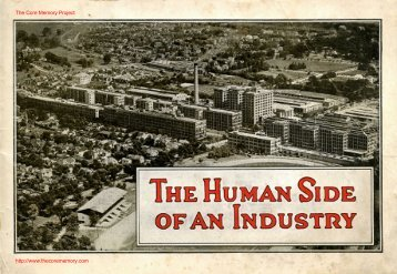 The Human Side of an Industry. - The Core Memory