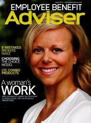 Employee Benefit Adviser, August 2010 - Amwinspresskit.com