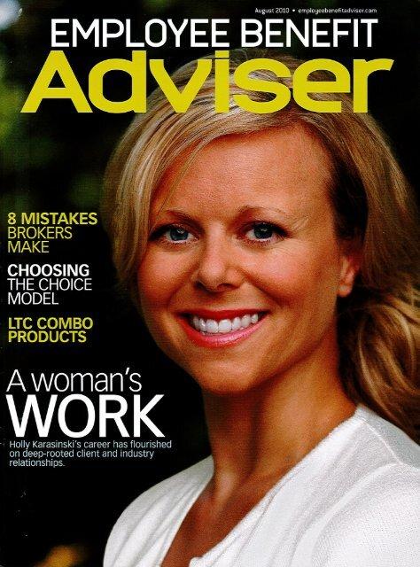 Employee Benefit Adviser, August 2010 - Amwinspresskit.com