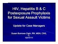 HIV Hepatitis B & C HIV, Hepatitis B & C Postexposure ...