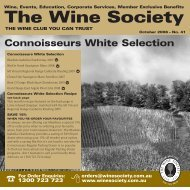 Connoisseurs Selection October 2008 - White - The Wine Society