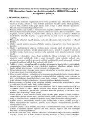 Tematické okruhy státní závěrečné zkoušky pro bakalářský studijní