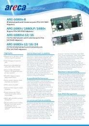 Areca ARC-1680ix-8 Datasheet (PDF) - starline Computer GmbH