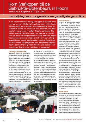 Kom (ver)kopen bij de Gebruikte-Botenbeurs in Hoorn - Yachtfocus