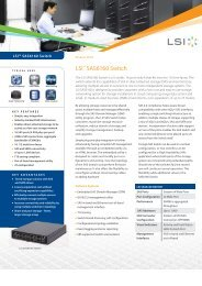 LSI SAS6160 Switch Product Brief - starline Computer GmbH