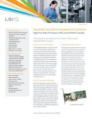 LSI MegaRAID SAS 9260-8i/MegaRAID SAS 9260DE-8i Product Brief