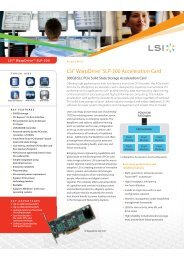 LSI WarpDrive SLP-300 product Brief - starline Computer GmbH