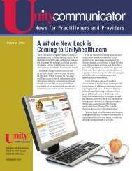 Issue 2, 2008 - Unity Health Insurance