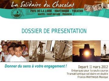 Présentation de la Solidaire du Chocolat (PDF - 1 - Conseil ...
