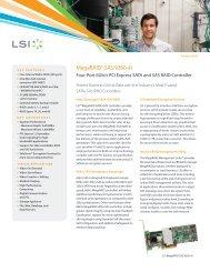 LSI MegaRAID SAS 9260-4i Datasheet (PDF) - starline Computer ...