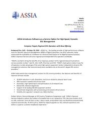 Expresse Services Release - PDF Final - ASSIA Inc.