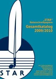 Gesamtkatalog 2009/2010 - STAR-Notenschreibpapiere