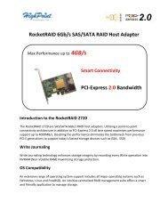 RocketRAID 6Gb/s SAS/SATA RAID Host Adapter Introduction to the ...