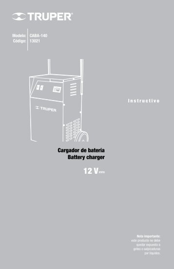 Carica Batteria monofase Battery Charger single-phase
