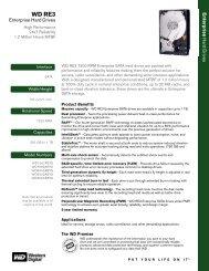 WD RE3 SATA Hard Drives Series Spec Sheet - Western Digital