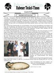 Ausgabe 02/05 - Teckelgruppe Raben