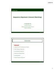 Sequence Alignment - ECS - Baylor University