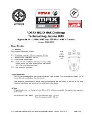 ROTAX MOJO MAX Challenge Technical Regulations 2013