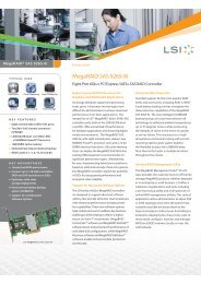 MegaRAID SAS 9265-8i Product Brief - starline Computer GmbH