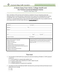 Complete the Post-test and Evaluation Form - American College ...