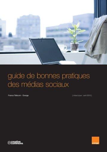 guide de bonnes pratiques des médias sociaux