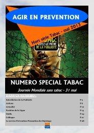 Agir en prévention spécial tabac 2013 - Ligue-cancer83.net
