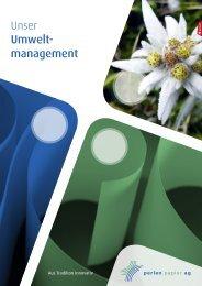 Unser Umwelt- m anagement - Perlen Papier AG