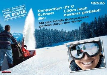 Temperatur:-21°C Schnee: 1,20mhoch Sie: bestensgerüstet!