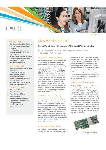 MegaRAID® SAS 9261-8i - starline Computer GmbH