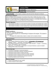 Lesson Plan - Career and Technical Education