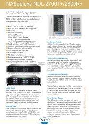 NASdeluxe NDL-2700T+ Datasheet - starline Computer GmbH
