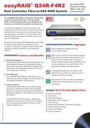 easyRAID Q24R-F4R2 Datasheet (PDF) - starline Computer GmbH