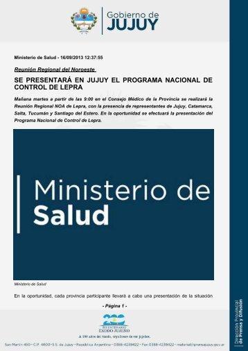 Se Presentar En Jujuy El Programa Nacional De Control Lepra