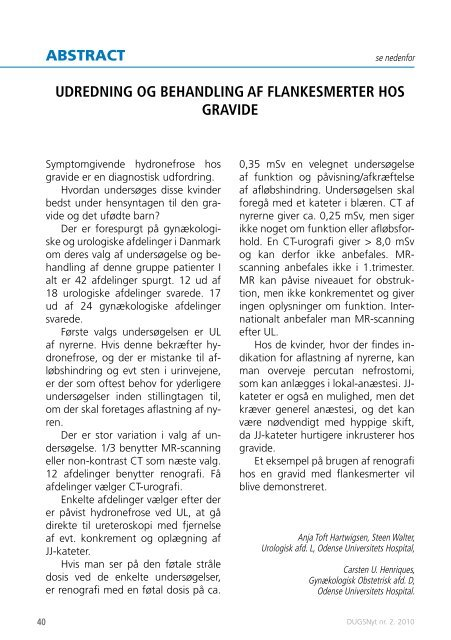 DUGSNyt nr. 2 / 2010 - DUGS.dk.