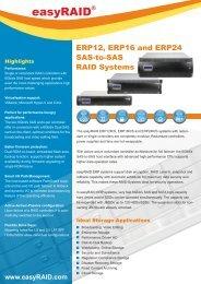 easyRAID ERP12S-6SR2 Datasheet (PDF) - starline Computer GmbH