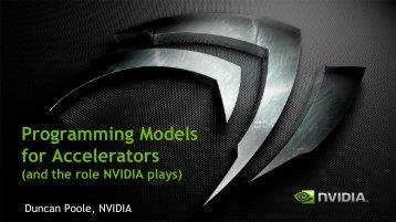 Programming Models for Nvidia Accelerators