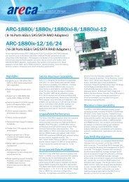 Areca 6Gbit/s SAS RAID Controller ARC-1880 - starline Computer ...