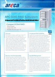 Areca ARC-5040/3 Datasheet (PDF) - starline Computer GmbH