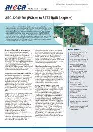Areca ARC-1200 Datasheet (PDF)