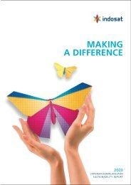 MAKING A DIFFERENCE - Indosat