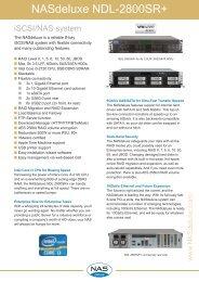 NASdeluxe NDL-2800SR+ Datasheet - starline Computer GmbH