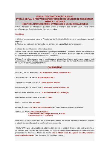 Hospital Universitário Evangélico de Curitiba - Associação Médica ...