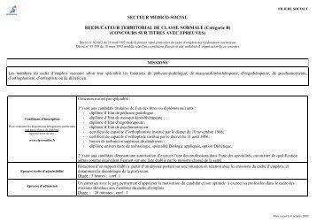 SECTEUR MEDICO-SOCIAL REEDUCATEUR TERRITORIAL DE ...