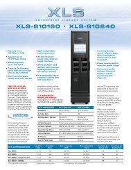 Qualstar XLS-810160 & 810240 LTO5 Library - starline Computer ...