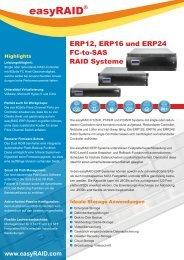 Datenblatt easyRAID ERP Systeme mit FC Host (PDF