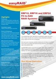 easyRAID ERP12S-8FR2 Datasheet (PDF) - starline Computer GmbH