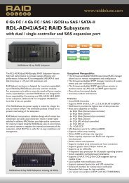 RAIDdeluxe RDL-AD42 -AS42 Datasheet