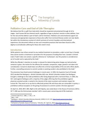 Palliative Care and End of Life Therapies