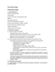 Curriculum Vitae Estela María Zalba