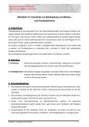 Merkblatt 15: Allgemeines Verhalten - TGZ Würzburg